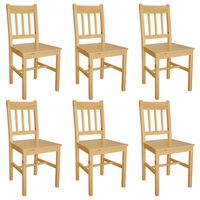 vidaXL Krzesła stołowe, 6 szt., drewno sosnowe