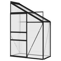 vidaXL Szklarnia, antracytowa, aluminium, 1,38 m³