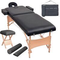 vidaXL Składany stół do masażu i stołek, dwuczęściowy, grubość 10 cm