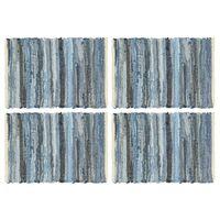vidaXL Maty na stół, 4 szt, Chindi, niebieski dżins, 30x45 cm, bawełna