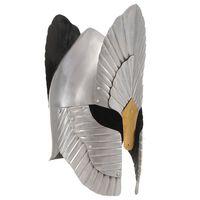 vidaXL Replika średniowiecznego hełmu, stylizowana, LARP, srebrna stal
