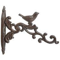 Esschert Design Wieszak ścienny na doniczkę, brązowy, żeliwo, BR21