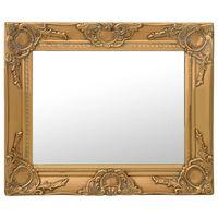 vidaXL Lustro ścienne w stylu barokowym, 50x40 cm, złote