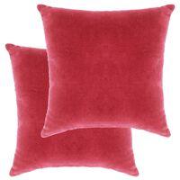 vidaXL Poduszki, 2 szt., aksamit bawełniany, 45 x 45 cm, różowe