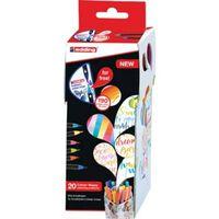 edding Zestaw 20 kolorowych pisaków z końcówką pędzelkową i mikserem