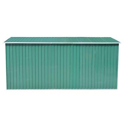 vidaXL Szopa ogrodowa, 257 x 392 x 181 cm, metal, zielona