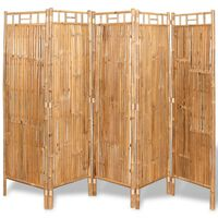 vidaXL 5-panelowy parawan bambusowy, 200x160 cm