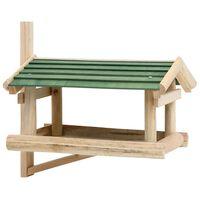 vidaXL Karmnik dla ptaków, lite drewno, 35 x 29,5 x 21 cm