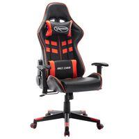 vidaXL Fotel dla gracza, czarno-czerwony, sztuczna skóra