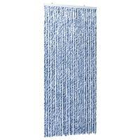 vidaXL Zasłona na owady, niebieski, szarość i biel, 100x220 cm, szenil