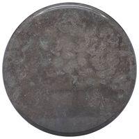 vidaXL Blat do stołu, czarny, Ø40 x 2,5 cm, marmur