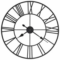 vidaXL Zegar ścienny, mechanizm kwarcowy, vintage, metal, 80 cm, XXL
