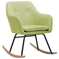 vidaXL Fotel bujany, zielony, tapicerowany tkaniną