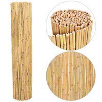 vidaXL Ogrodzenie z bambusa, 300x125 cm