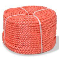 vidaXL Skręcana linka z polipropylenu, 14 mm, 100 m, pomarańczowa