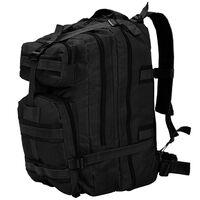 vidaXL Plecak w stylu wojskowym, 50 L, czarny