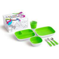 Munchkin 7-częściowy zestaw naczyń dla dzieci Color Me Hungry, zielony