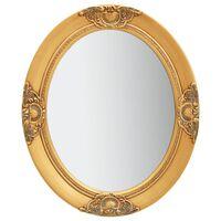 vidaXL Lustro ścienne w stylu barokowym, 50x60 cm, złote