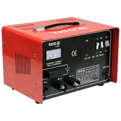 YATO Ładowarka do akumulatorów, 12/24 V, 25 A, 230 V