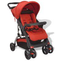 vidaXL Czerwony wózek spacerowy, 102x52x100 cm