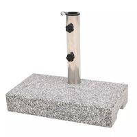 vidaXL Prostokątna podstawa pod parasol, granitowa, 25 kg