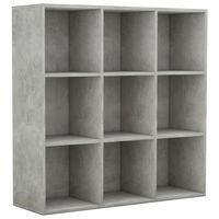 vidaXL Regał na książki, szarość betonu, 98x30x98 cm, płyta wiórowa