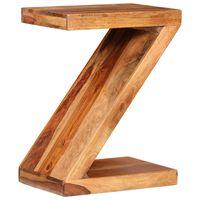 vidaXL Stolik w kształcie litery Z, lite drewno sheesham
