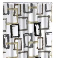 RIDDER Zasłona prysznicowa Pattern Brown, 180 x 200 cm