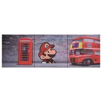 vidaXL Zestaw obrazów z londyńskim nadrukiem, kolorowy, 120x40 cm