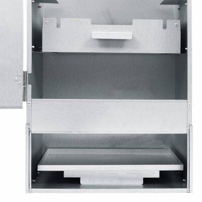 vidaXL Wędzarnia z 1 kg zrębków, 44,5 x 29 x 124 cm