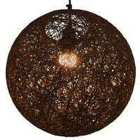 vidaXL Lampa wisząca, brązowa, kula, 35 cm, E27