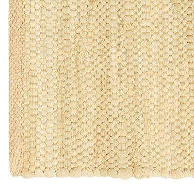 vidaXL Maty na stół, 4 szt, Chindi, gładkie, beżowe, 30x45 cm, bawełna