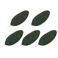 vidaXL Sztuczne liście bananowca, 5 szt., zielone, 50 cm
