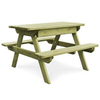 vidaXL Stół piknikowy z ławkami, 90x90x58 cm, impregnowana sosna