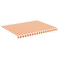 vidaXL Zapasowa tkanina na markizę, żółto-pomarańczowa, 4x3 m