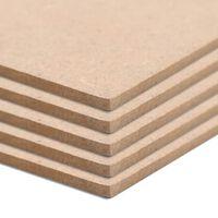 vidaXL Płyty MDF, 10 szt., kwadratowe, 60 x 60 cm x 2,5 mm