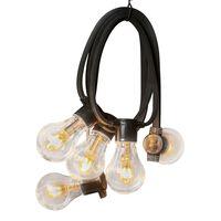 KONSTSMIDE Sznur z 10 lampkami, guma, bardzo ciepłe światło