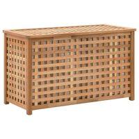 vidaXL Skrzynia na pranie, 77,5x37,5x46,5 cm, lite drewno orzechowe