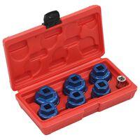 """vidaXL 7-częściowy zestaw kluczy nasadowych do filtra oleju, 3/8"""""""