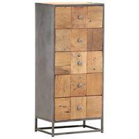 vidaXL Komoda, 45x30x100 cm, lite drewno z odzysku