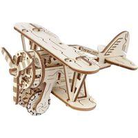 WOODEN CITY Drewniany model dwupłatowego samolotu, zestaw modelarski