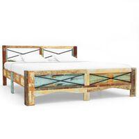 vidaXL Rama łóżka z litego drewna z odzysku, 180 x 200 cm