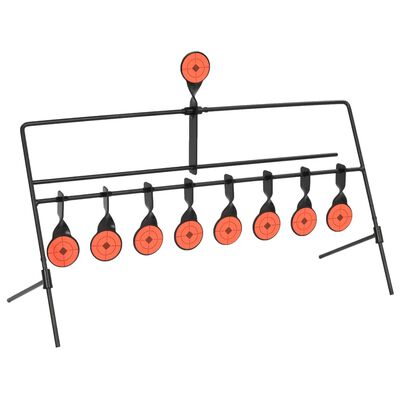 vidaXL Cele strzelnicze, obrotowe, automatyczny reset, 8+1