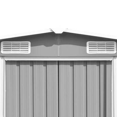 vidaXL Szopa ogrodowa, 257 x 392 x 181 cm, metal, szara