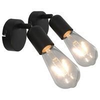vidaXL Reflektory, 2 szt., czarne, E27
