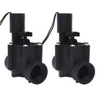vidaXL Elektrozawory do systemu nawadniającego, 2 szt., AC 24 V