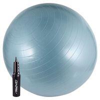 Avento Piłka fitness z pompką, 65 cm, niebieska, 41VV-LBL