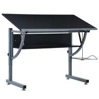 vidaXL Młodzieżowy stół kreślarski, czarny, 110x60x87 cm, MDF