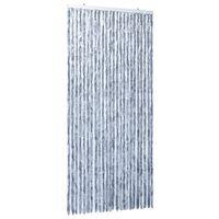 vidaXL Zasłona przeciwko owadom, srebrna, 100x220 cm, szenil