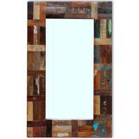 vidaXL Lustro z ramą z drewna odzyskanego, 80x50 cm